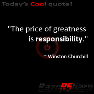Daily Quotes – Responsibility