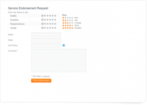 Example review form