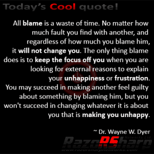 Daily Quote - Blame