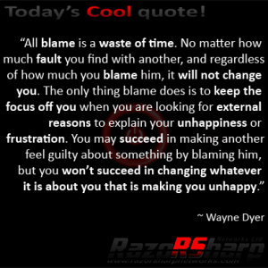 Daily Quotes - Blame