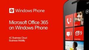 4C and RazoRSharp Networks Office 365 is Better on Windows Phone Presentation