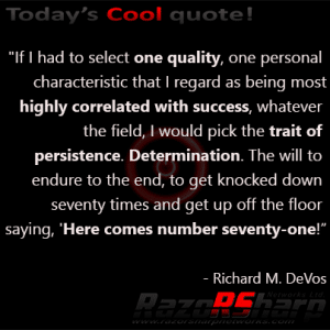 Daily Quotes - Persistence