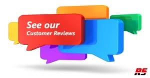 Bubble windows of customer reviews for razor sharp networks