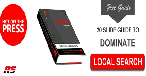 Click Here image to download 20 slide guide to dominate local search marketing