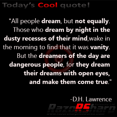 Daily Quotes Dh Lawrence Seeking Happiness Razorsharp Networks